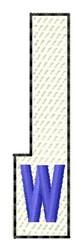 White Piano Key W embroidery design