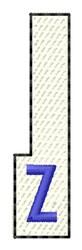 White Piano Key Z embroidery design