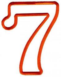 Applique 7 embroidery design