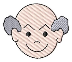 Old Man Face embroidery design