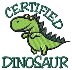 Certified Dinosaur embroidery design
