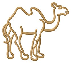 Camel Outline embroidery design