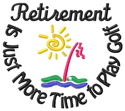 Retirement Golf embroidery design