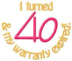 Warranty 40 embroidery design