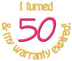 Warranty 50 embroidery design