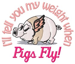 Pigs Fly embroidery design