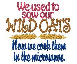 Wild Oats embroidery design