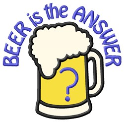 Beer Answer embroidery design