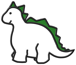 Applique Dinosaur embroidery design