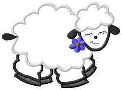 Applique Sheep embroidery design