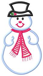 Applique Snowman #2 embroidery design