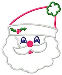 Applique Santa Face embroidery design