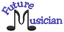 Future Musician embroidery design