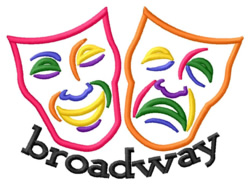 Broadway embroidery design