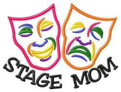 Stage Mom embroidery design