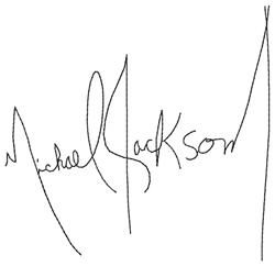 Michael Jackson Signature embroidery design