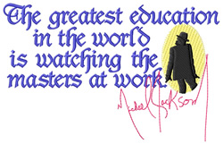 Greatest Education embroidery design