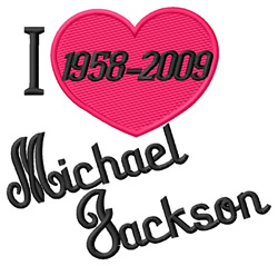 Love Michael Jackson embroidery design