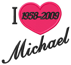 I Love Micheal embroidery design