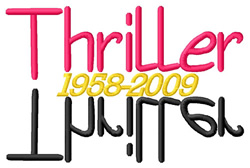 Thriller embroidery design
