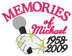 Memories of Michael embroidery design