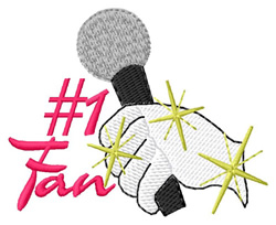 Number One Fan embroidery design