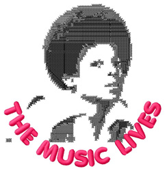 The Music Lives embroidery design