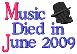 Music Died embroidery design