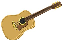 Acoustic Guitar embroidery design