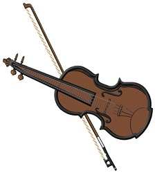 Violin & Bow embroidery design