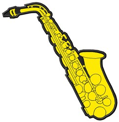 Alto Saxophone embroidery design