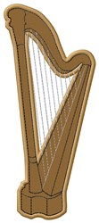 Harp embroidery design