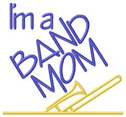 Trombone Band Mom embroidery design
