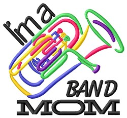 Tuba Band Mom embroidery design