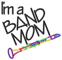 Clarinet Band Mom embroidery design