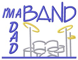 Percussion Band Dad embroidery design