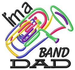 Tuba Band Dad embroidery design
