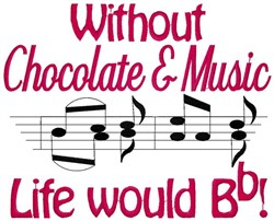 Chocolate & Music embroidery design