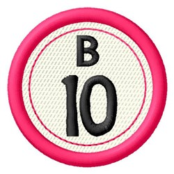 Bingo B10 embroidery design