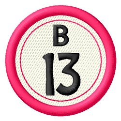 Bingo B13 embroidery design