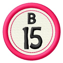 Bingo B15 embroidery design