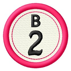 Bingo B2 embroidery design