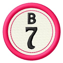 Bingo B7 embroidery design