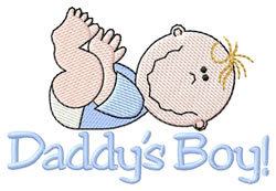 Daddys Boy! embroidery design