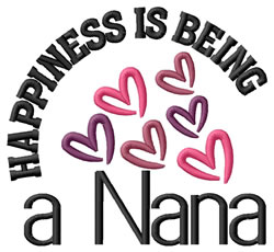 Happiness Is Nana embroidery design