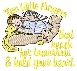 Ten Little Fingers embroidery design