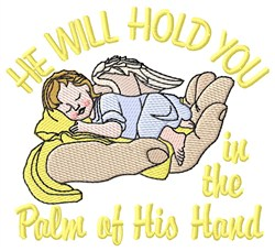 He Will Hold You embroidery design