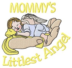 Mommys Littlest Angel embroidery design