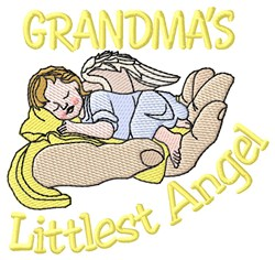 Grandmas Littlest Angel embroidery design