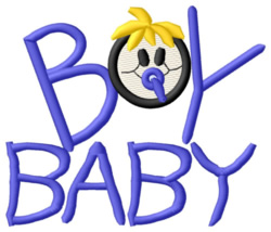 Boy Baby embroidery design